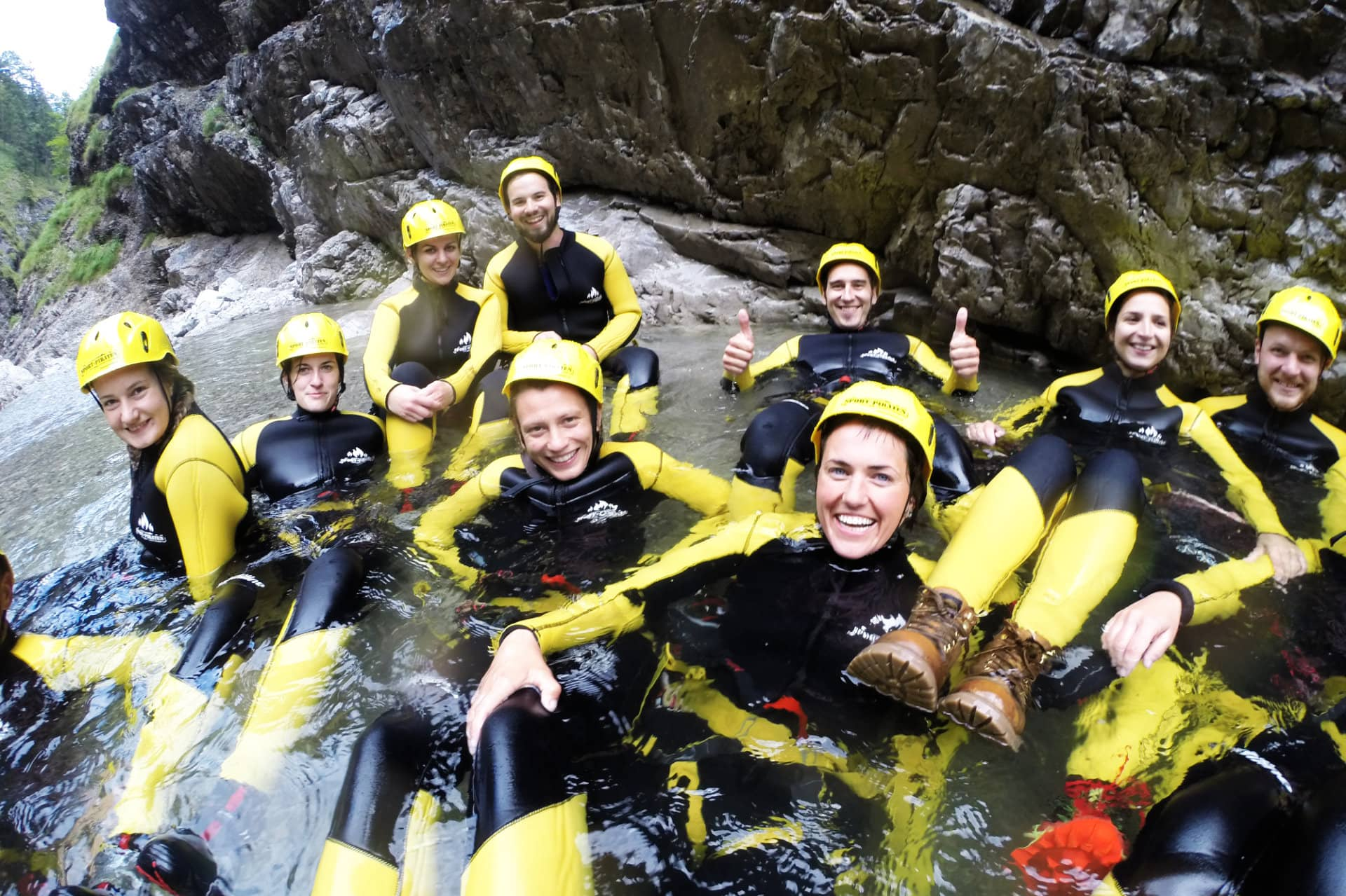 Teamevent Canyoning München