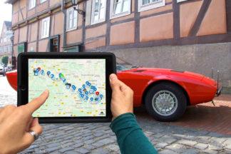 Tablet Rallye Auto, individuelle Tabtour