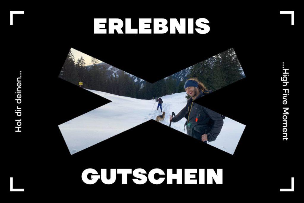 Schneeschuhtour Gutschein - Schneeschuh Zipflbob Hörnle