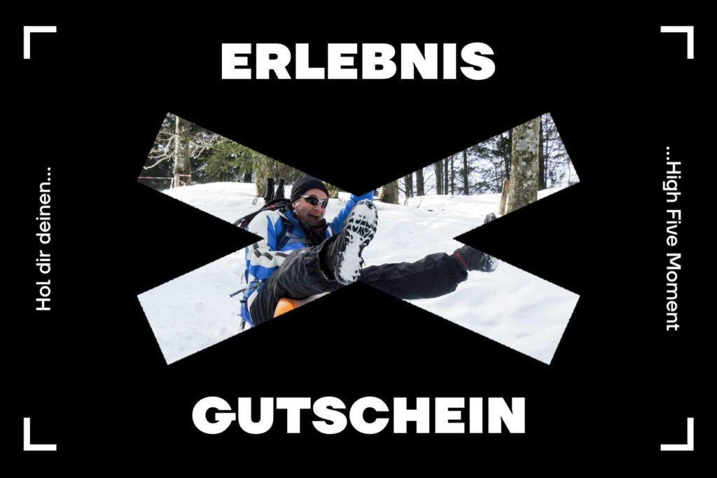 Schneeschuhtour Gutschein - Schneeschuhtour mit Zipflbob am Schliersee